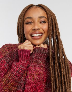 Красный вязаный свитер с эффектом омбре BB Dakota