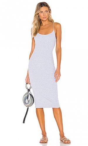 Платье миди brooklyn Privacy Please. Цвет: серый