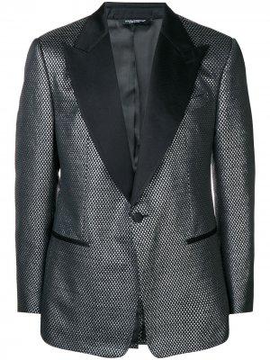 Жаккардовый блейзер Dolce & Gabbana. Цвет: черный