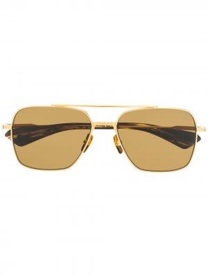 Солнцезащитные очки Flight Seven Dita Eyewear. Цвет: золотистый