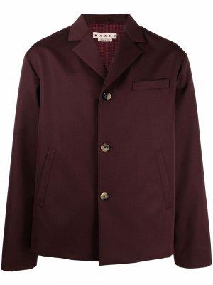 Однобортный пиджак свободного кроя Marni. Цвет: красный