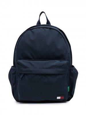 Logo-patch zip-up backpack Tommy Hilfiger Junior. Цвет: синий