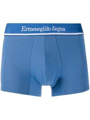 Боксеры с логотипом Ermenegildo Zegna. Цвет: синий