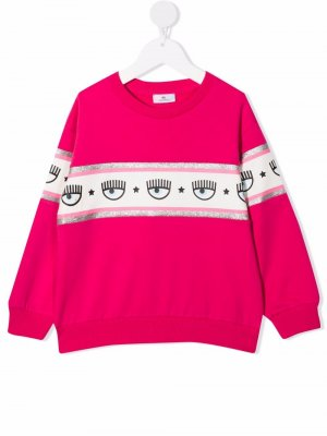 Толстовка с логотипом Chiara Ferragni Kids. Цвет: розовый