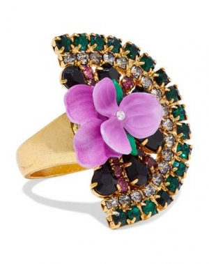 Кольцо ELIZABETH COLE. Цвет: зеленый