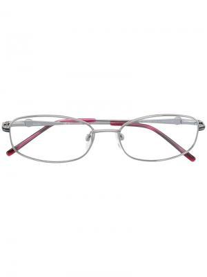Очки в овальной оправе Pierre Cardin Eyewear. Цвет: золотистый