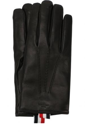 Кожаные перчатки Thom Browne. Цвет: черный