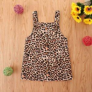 Для девочек Сарафаны с леопардовым принтом SHEIN. Цвет: многоцветный