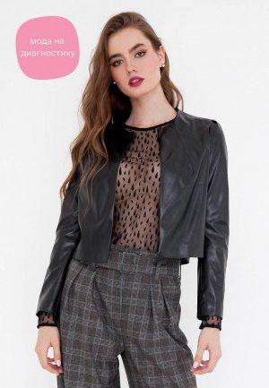 Куртка кожаная Gregory. Цвет: черный