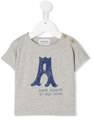 A print T-shirt Bobo Choses. Цвет: серый