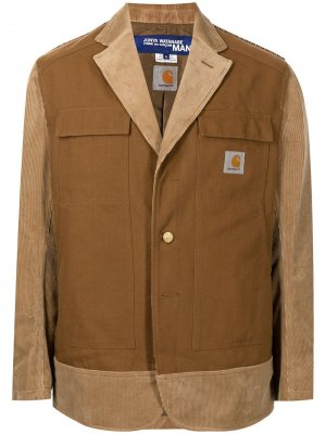 Пиджак из коллаборации с Carhartt Junya Watanabe MAN. Цвет: коричневый