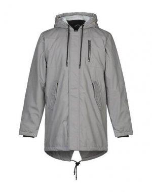 Пальто ANERKJENDT. Цвет: светло-серый