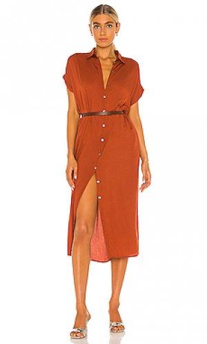 Платье delphina Indah. Цвет: металлический медный