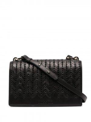 Плетеная сумка-сэтчел через плечо Missoni. Цвет: черный