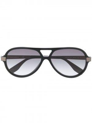 Солнцезащитные очки-авиаторы Karl Ikon Lagerfeld. Цвет: черный