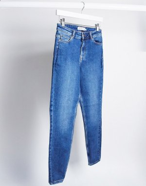 Синие зауженные джинсы до щиколотки -Синий Pieces