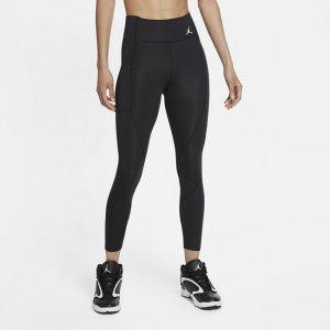 Женские слегка укороченные леггинсы со средней посадкой Jordan Essentials - Черный Nike