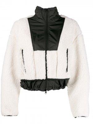 Укороченная куртка-бомбер из шерпы 3.1 Phillip Lim. Цвет: нейтральные цвета