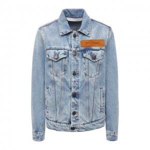 Джинсовая куртка Palm Angels. Цвет: синий