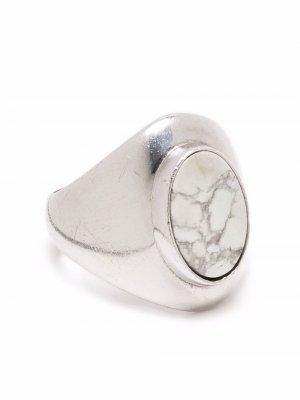 Перстень с камнем Céline Pre-Owned. Цвет: серебристый
