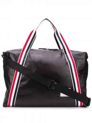 Дорожная сумка с полосками Thom Browne. Цвет: черный