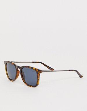 Солнцезащитные очки в квадратной черепаховой оправе Levis-Коричневый Levi's
