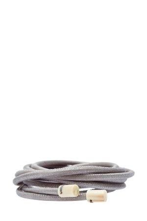 Тонкий кожаный пояс с эффектом полировки LORENA ANTONIAZZI. Цвет: серый