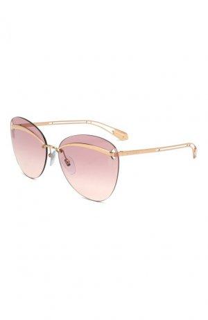 Солнцезащитные очки BVLGARI. Цвет: розовый
