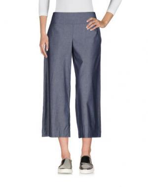 Джинсовые брюки-капри LIVIANA CONTI. Цвет: синий