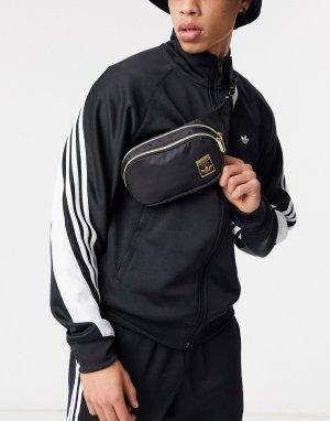 Сумка-кошелек на пояс с золотистым логотипом superstar-Черный adidas Originals