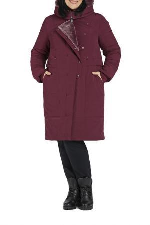 Пальто D`imma. Цвет: брусничный