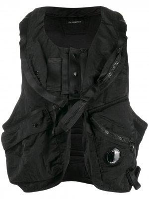 Жилет с карманами C.P. Company. Цвет: черный