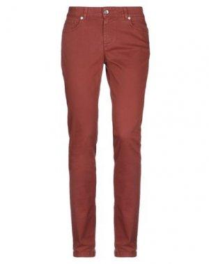 Джинсовые брюки HENRY COTTON'S. Цвет: коричневый
