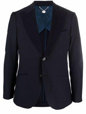 Однобортный пиджак Maurizio Miri. Цвет: синий
