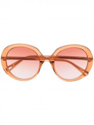 Солнцезащитные очки Esther Chloé Eyewear. Цвет: оранжевый