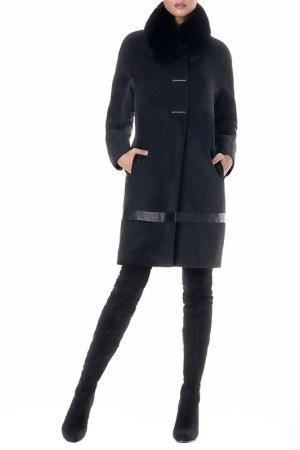 Пальто JUNONA. Цвет: черный