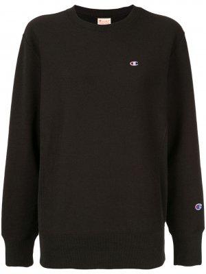 Флисовый пуловер с начесом Champion. Цвет: черный