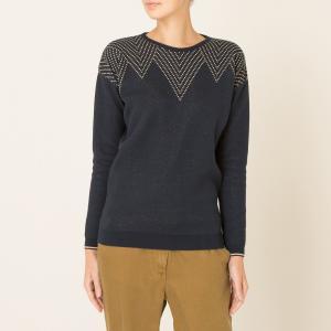 Пуловер DANS LE MILLE BLUNE. Цвет: темно-синий