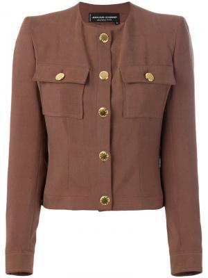 Укороченная куртка Jean Louis Scherrer Pre-Owned. Цвет: коричневый