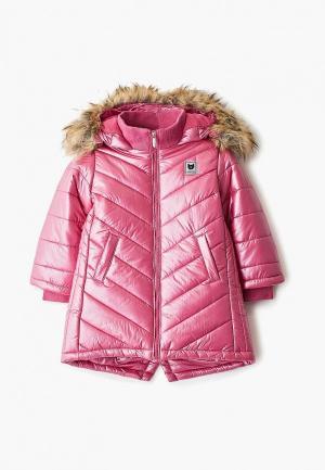 Куртка утепленная Button Blue. Цвет: розовый