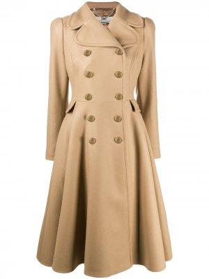 Пальто А-силуэта Elisabetta Franchi. Цвет: коричневый