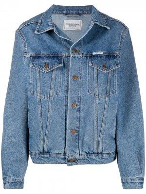 Джинсовая куртка свободного кроя Forte Dei Marmi Couture. Цвет: синий