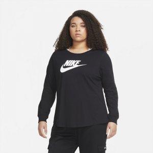 Женская футболка Sportswear Essential (большие размеры) - Черный Nike