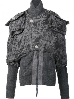 Куртка-бомбер Clint Eastwood Vivienne Westwood Anglomania. Цвет: серый