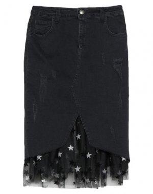 Джинсовая юбка JIJIL. Цвет: черный