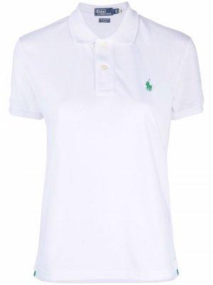 Рубашка поло с вышивкой Polo Ralph Lauren. Цвет: белый