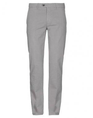 Повседневные брюки CORNELIANI ID. Цвет: светло-серый