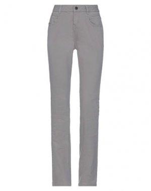 Джинсовые брюки FULL CIRCLE. Цвет: голубиный серый