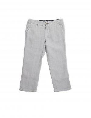 Серые льняные брюки-чинос 120% Lino Kids