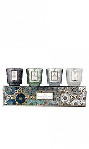 Подарочный набор свечей pedestal Voluspa. Цвет: beauty: na
